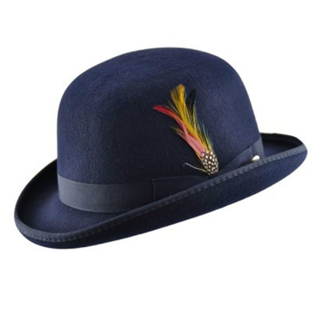 Navy Blue Bowler hat